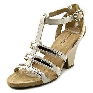 Bandolino Baruca Women Open Toe Synthetic Ivory Sandals