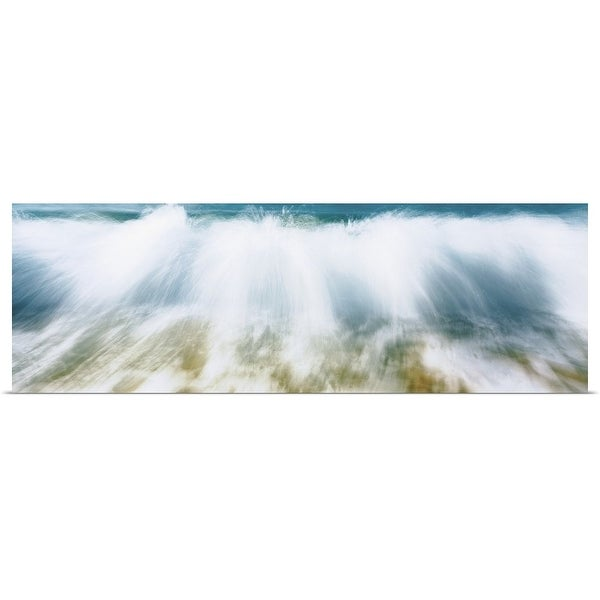 """Surf Fountains Big Makena Beach Maui HI"" Poster Print"