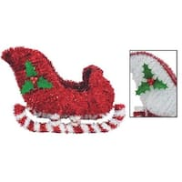 "F C Young 13"" 3D Tinsel Sleigh 3D-SLEIGH Unit: EACH Contains 6 per case"