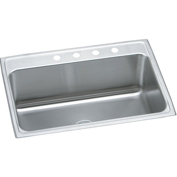 """Elkay DLR312212 Gourmet 31"""" Single Basin 18-Gauge Stainless Steel Kitchen Sink for Drop In Installations with SoundGuard"""