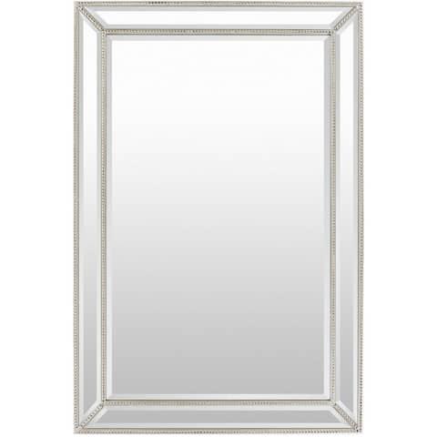 "Danika Wood Framed Medium Size Rectangular Wall Mirror - 32"" x 47"""