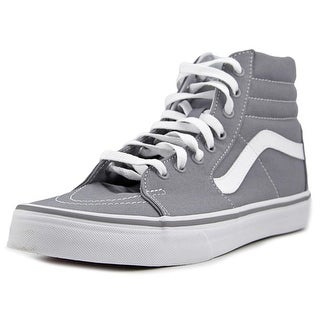Vans Sk8-Hi Men Round Toe Canvas Gray Skate Shoe
