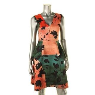 Clover Canyon Womens Scuba Peplum Wear to Work Dress