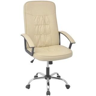 "vidaXL Office Chair Artificial Leather 26.4""x27.6"" Cream"