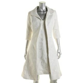 B Michael Womens Metallic 2PC Dress With Jacket - 10