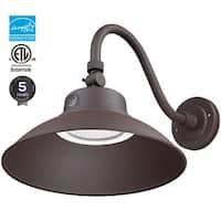 42W LED Gooseneck Barn Light, Photocell Included, Brown