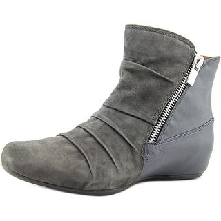Earthies Pino Women  Round Toe Leather Gray Ankle Boot