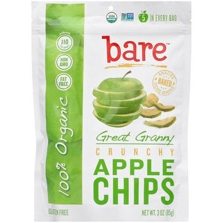 Bare Fruit - Organic Great Granny Apple Chips ( 12 - 3 oz bags)
