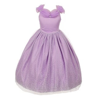 Rainkids Girls Lilac Rhinestones Sparkly Tulle Tiara Princess Dress 8-12