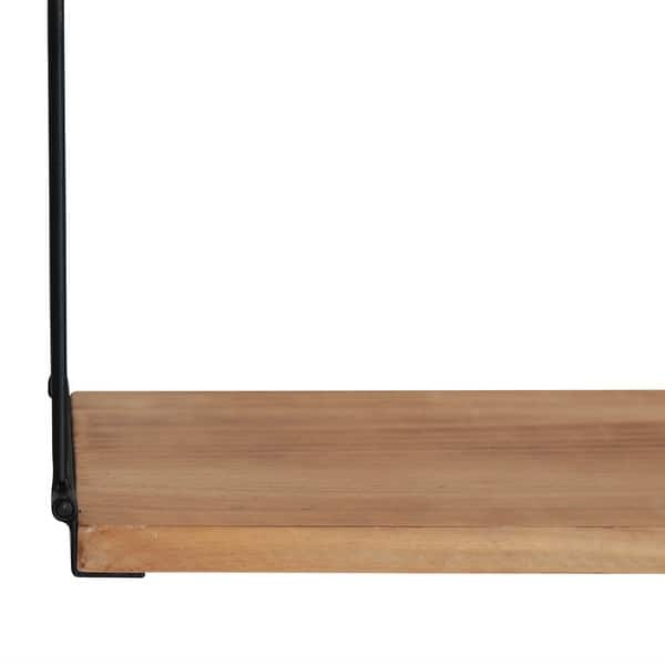 Stratton Home Decor 3 Tier Metal And Wood Wall Shelf 39 00 X 5 00 X 26 50 Overstock 31945464