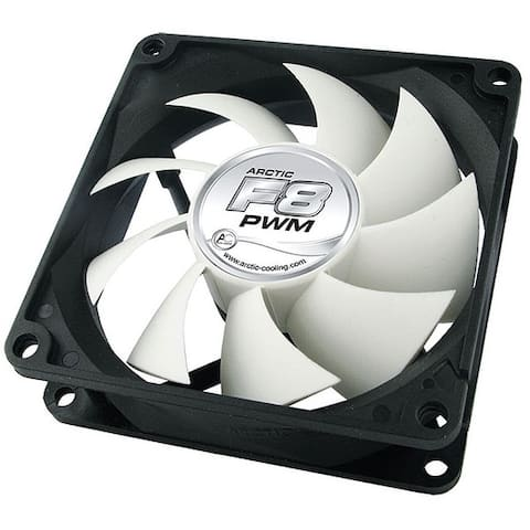 Arctic Cooling F8 PWM 80mm Fluid Dynamic PC Computer Case Fan w/ 3-Pin Power NEW