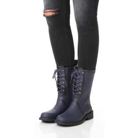 Rag and Bone Ansel Navy Rain Boots