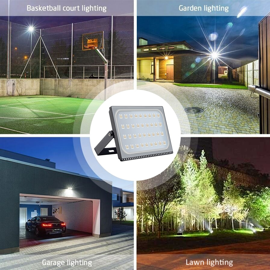 2x 200W LED Flood Light Outdoor Spotlights Fixtures Outside Cool White Lamp 110V