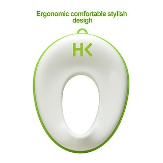 Non-Slip Infant Toddlers Potty Toilet Seat w/ Hanging Ring Pee Visor Secure for Round Oval and Most Toilets Seats
