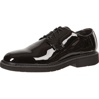 Rocky Work Shoes Mens High Gloss Leather Oxford Black FQ00510-8