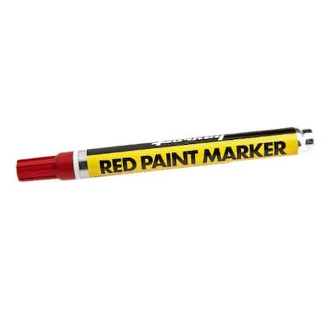 Forney 70820 Permanent Paint Marker, Red