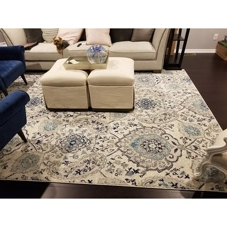 Safavieh Madison Paisley Boho Glam Cream/ Light Grey Rug - 8' x 10'