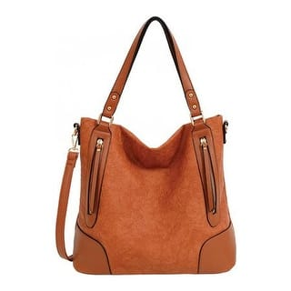 Mellow World Women S Deborah Vegan Tote Handbag Cognac Us One Size