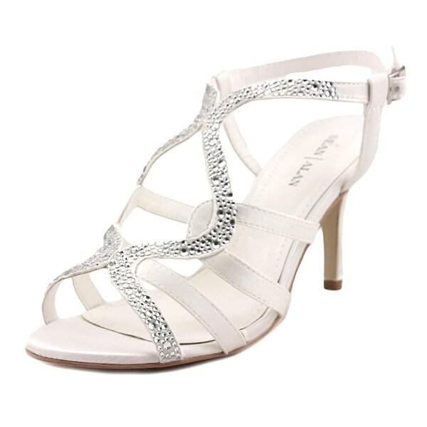 Sean Alan Sonya Women Open Toe Canvas Ivory Sandals