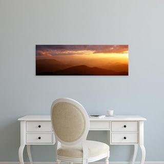 Easy Art Prints Panoramic Image 'Mountains, Blue Ridge Parkway, Great Smoky Mountains, North Carolina' Canvas Art