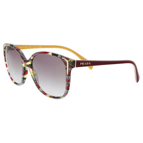 ca0cda3571b Prada PR01OS TH63E2 Havana   Ears bord yellow Square Sunglasses - 55-17-140