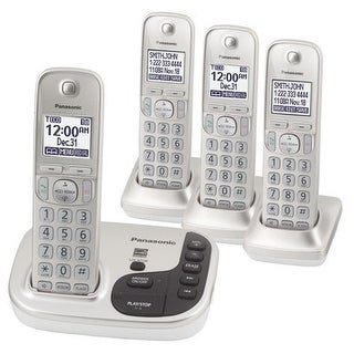 Panasonic KX-TGD224N DECT 6.0 Expandable Digital Cordless Answering System with 4 Handsets (Refurbished)