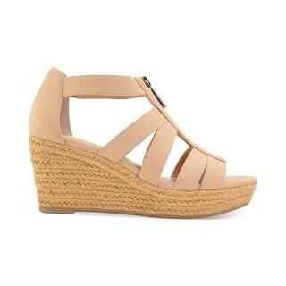 LAUREN by Ralph Lauren Womens Kelcie Cotton Open Toe Casual Strappy Sandals
