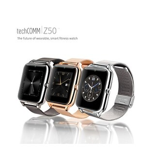 TechComm Z50 Smart Watch with 0.3 MP Camera GSM Bluetooth Touch Screen