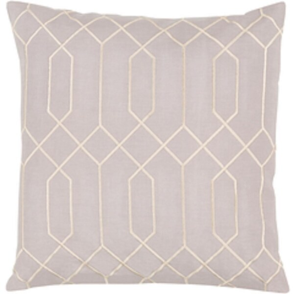 "18"" Infinite Figure Eight Gainsboro Gray and Cosmic Latte Decorative Throw Pillow - Down Filler"