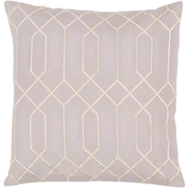 "20"" Infinite Figure Eight Gainsboro Gray and Cosmic Latte Decorative Throw Pillow - Down Filler"