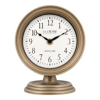 Link to La Crosse Clock 404-3229A 7-Inch Mabel Metal Table Top Quartz Clock Similar Items in Decorative Accessories