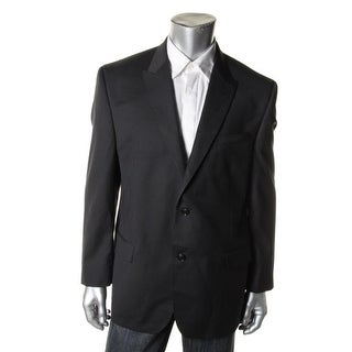 Sean John Mens Diamond Texture Two Button Sportcoat - 38R