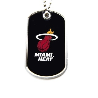 Miami Heat Dog Tag Necklace Charm Chain NBA