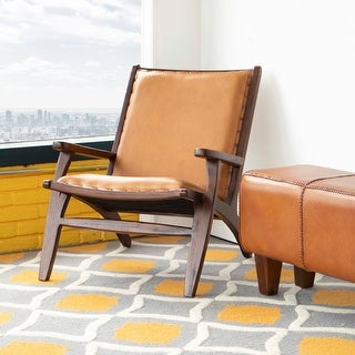 "Link to Mid Century Modern Margot Tan Accent Chair - 32"" x 26"" x 30"" Similar Items in Corner Chairs"