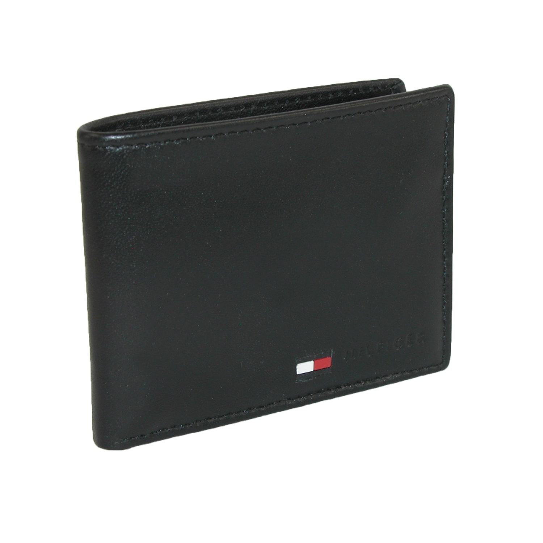 e12738ec382f Tommy Hilfiger Men's Leather Stockton Passcase Billfold Wallet - one size