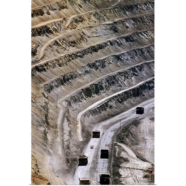 """Bingham Canyon Mine near Salt Lake City"" Poster Print"