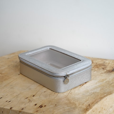 Hives & Honey Kenna Clear Cosmetics Case Jewelry Storage