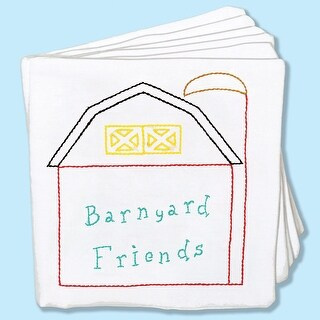 "Stamped Cloth Nursery Books 8""X8"" 12 Pages-Barnyard Friends"