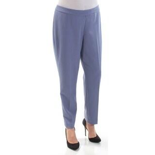 ANNE KLEIN Womens Blue Flat Front Wear To Work Pants Size: 0