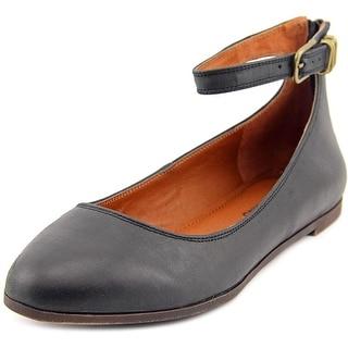 Lucky Brand Gyllian Women Round Toe Leather Black Flats