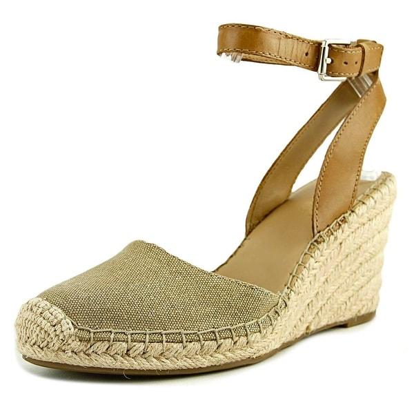 c7c3cfa421 Shop Franco Sarto Mirage Women Open Toe Leather Gold Wedge Heel ...