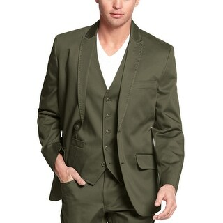 INC International Concepts Mens Sportcoat Blazer Medium M 2-Buttons Forest Green