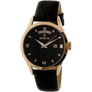 Invicta Women's Vintage Rose-Gold Leather Quartz Fashion Watch