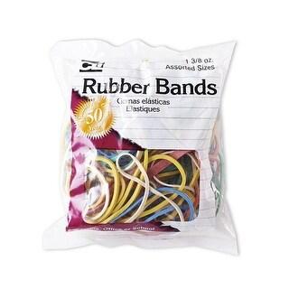Charles Leonard Rubber Bands, Assorted Color - Pack of 12