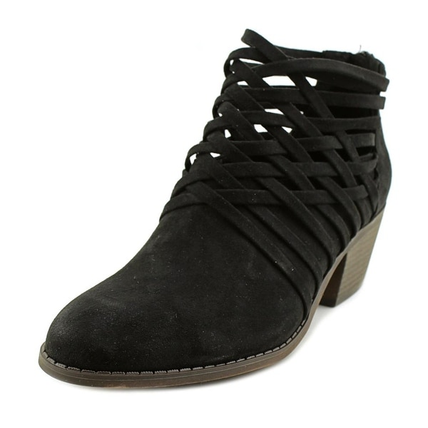 Fergalicious Bandana Women Pointed Toe Leather Black Bootie