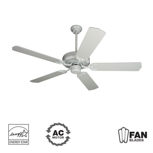 "Craftmade K10621 Contractor's Design 52"" 5 Blade Energy Star Indoor Ceiling Fan - Blades Included"