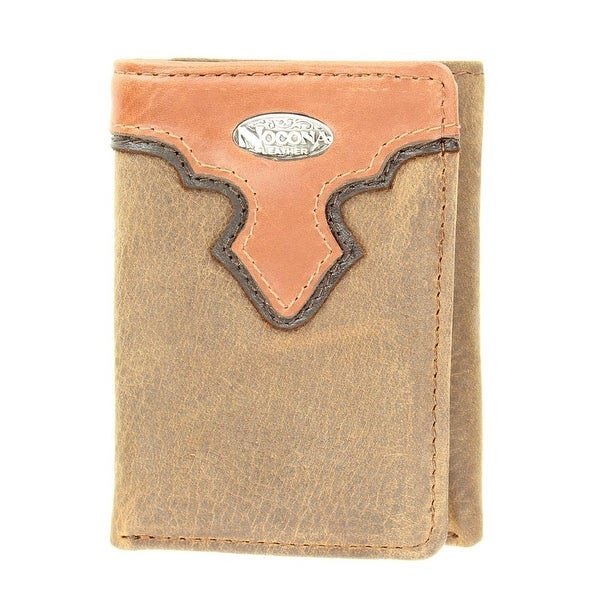 Nocona Western Wallet Classic Mens Trifold Western Overlay - One size