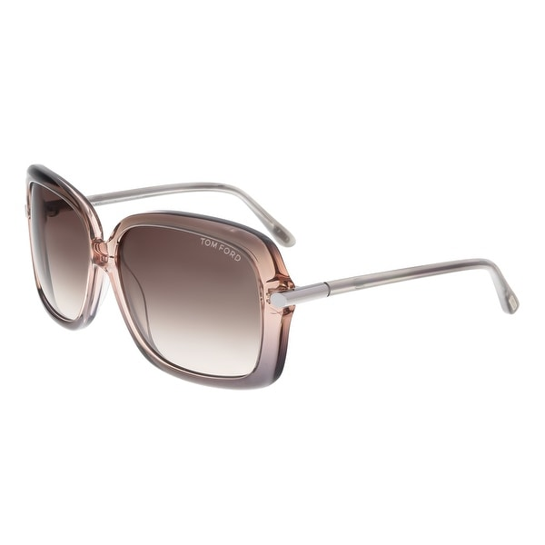 36d32f90fa06 Tom Ford FT0323 74F PALOMA Lilac Gradient Square Sunglasses - 59-14-135