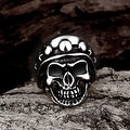 Vienna Jewelry The Skull's Crown Stainless Steel Ring - Thumbnail 2