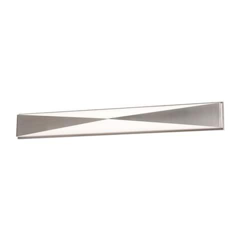 Novara 37-inch ADA Satin Nickel LED Vanity, White Acrylic Shade